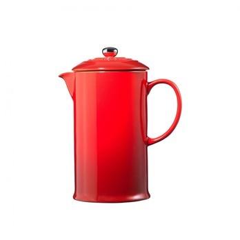 Le Creuset - Le Creuset Kaffeebereiter - kirschrot/Auch für Mikrowelle & Gefrierschrank geeignet/H22/0,8L
