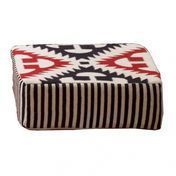 GAN - Kilim Catania Modulo A2 Pouf - rot/weiß/schwarz