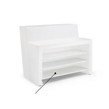 Pedrali - Oblique Einlegeboden - weiß/3 Stück