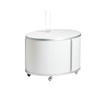 Wogg - Liva Ellipsetower/Ellipsen-Turm 44 - weiß/Abdeckung weiß Melamin/LxBxH 50x65x44cm