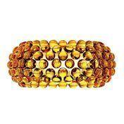 Foscarini - Caboche Media Parete Wandleuchte - goldgelb/Methacrylat/Größe 2/50x24,5cm