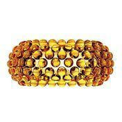 Foscarini - Caboche Media Parete Wandleuchte - goldgelb/Methacrylat/50x24,5cm
