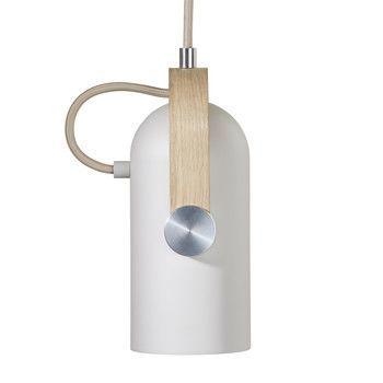 - Carronade Pendelleuchte  Ø20cm - sand/eiche/matt/H x Ø: 26 x 20cm/Incl. LED 15W/E27/800lm