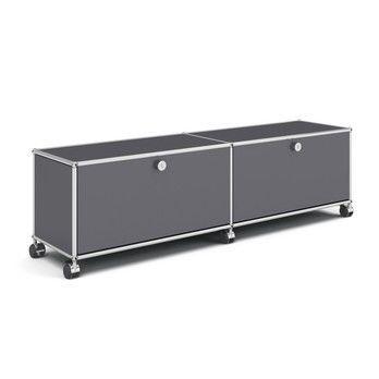 USM Haller - USM Hi-Fi/TV Board mit 2 Klapptüren