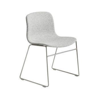 HAY - About a Chair 09 Stuhl Gestell edelstahl - grau Hallingdal 116/Gestell Stahl edelstahl/H x B x T: 78 x 58 x 50cm/Gestell mit Kufen