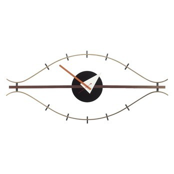Vitra - Eye Clock Nelson Wanduhr - nussbaum/messing