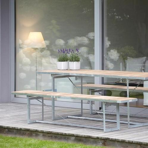 Jan Kurtz - Jever Gartenbank - robinie natur/fsc-zertifiziert/klappbar/220x35cm