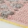 GAN - Mangas Space Rectangular Teppich  - pink/grau Raute/100% neue Wolle/von Hand gewebt/250x160cm