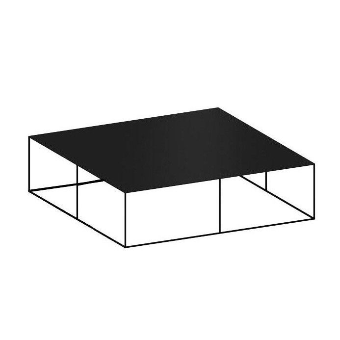 Slim Irony Coffee Table 124x124cm   Copper Black/height Of The Shelf  Compartments 39cm