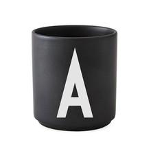 Design Letters - Design Letters Porzellanbecher A-M Schwarz L
