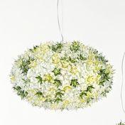 Kartell - Bloom Kugel S1 Pendelleuchte - minze/transparent/Größe 2/H x Ø: 35 x 53cm