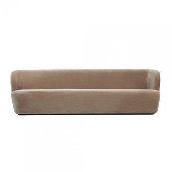 Gubi - Stay Sofa 3-Sitzer - beige/Stoff Velluto di Cotone 208/BxHxT 260x78x70cm