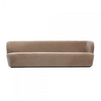 - Stay Sofa 3-Sitzer - beige/Stoff Velluto di Cotone 208/BxHxT 260x78x70cm