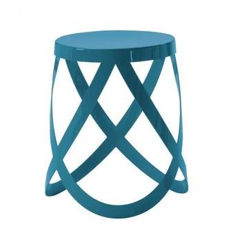 Cappellini - Ribbon Hocker - blau/matt/H 44cm