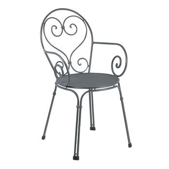 emu - Pigalle Garten-Armlehnstuhl - antikes eisengrau/pulverbeschichtet/BxHxT 50x85x54cm