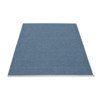 pappelina - Mono Teppich 140x200cm - ozeanblau - taubenblau/gewebt/Kante umgenäht/für Innen- und Außenbereich geeignet