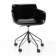 MDF Italia - Flow Swivel Armchair With Star Base & Wheels