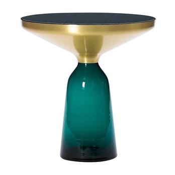 ClassiCon - Bell Miniatur Side Table/Beistelltisch Ø10cm - smaragd-grün/messing/Ø 10cm