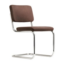 Thonet - Chaise cantilever S 32 PV Pure Materials cuir