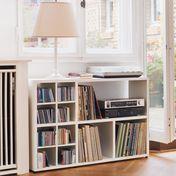 Flötotto - 355 Sideboard klein - weiß/lackiert/inkl. 2 CD-Kreuzen/ohne Rückwände