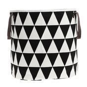 ferm LIVING - Triangle Basket - black/white/Ø35cm