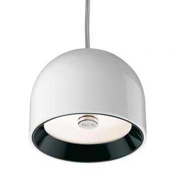 Flos - Wan S Pendelleuchte - weiß/Kabel schwarz/glänzend
