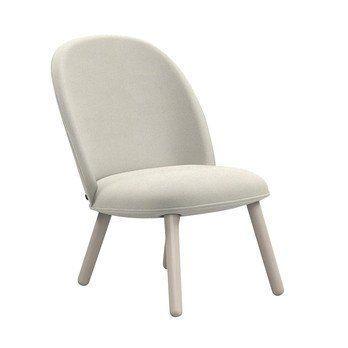 Normann Copenhagen - Ace Lounge Chair Nist  - beige/Gestell Buche gebeizt/H x B x T: 80 x 56 x 70cm