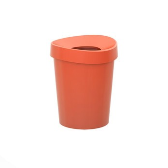 Vitra - Happy Bin S Papierkorb - rot poppy red/H 29,5cm, Ø23,5cm