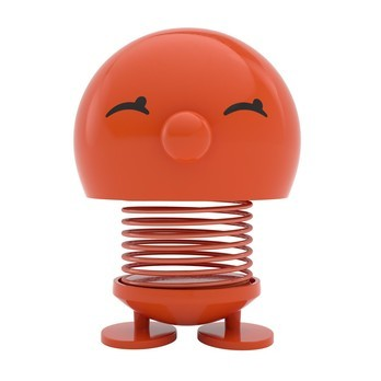 Hoptimist - Hoptimist Bimble Wackelfigur - orange/glänzend/H13cm/Ø10cm/mit Federmechanismus
