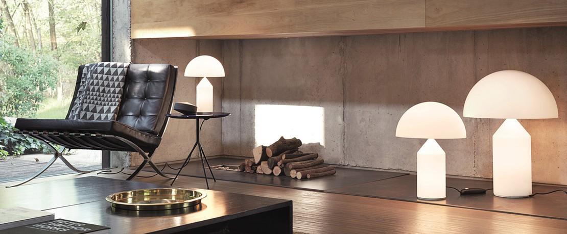 Atollo Oluce Designklassiker Übersichtsseite Presenter