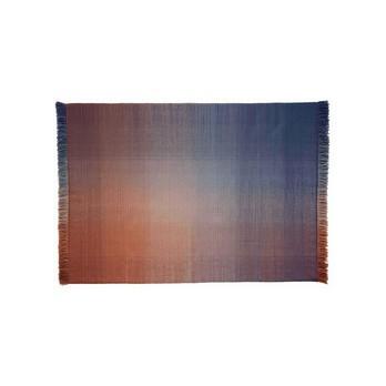 Nanimarquina - Shade Palette 2 Wollteppich - mehrfarbig/orange/blau/Kilim: 100% neuseeländische Wolle/170x240cm/Dichte: 75.000 Knoten/m2/H 0.6cm/Gewicht:1.5 kg/m2