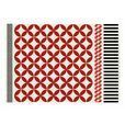 GAN - Kilim Catania Teppich  - rot/weiß/schwarz/200x300cm