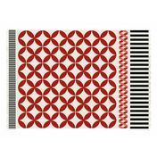 GAN - Kilim Catania - Alfombra - rojo/blanco/negro/Talla 3/200x300cm