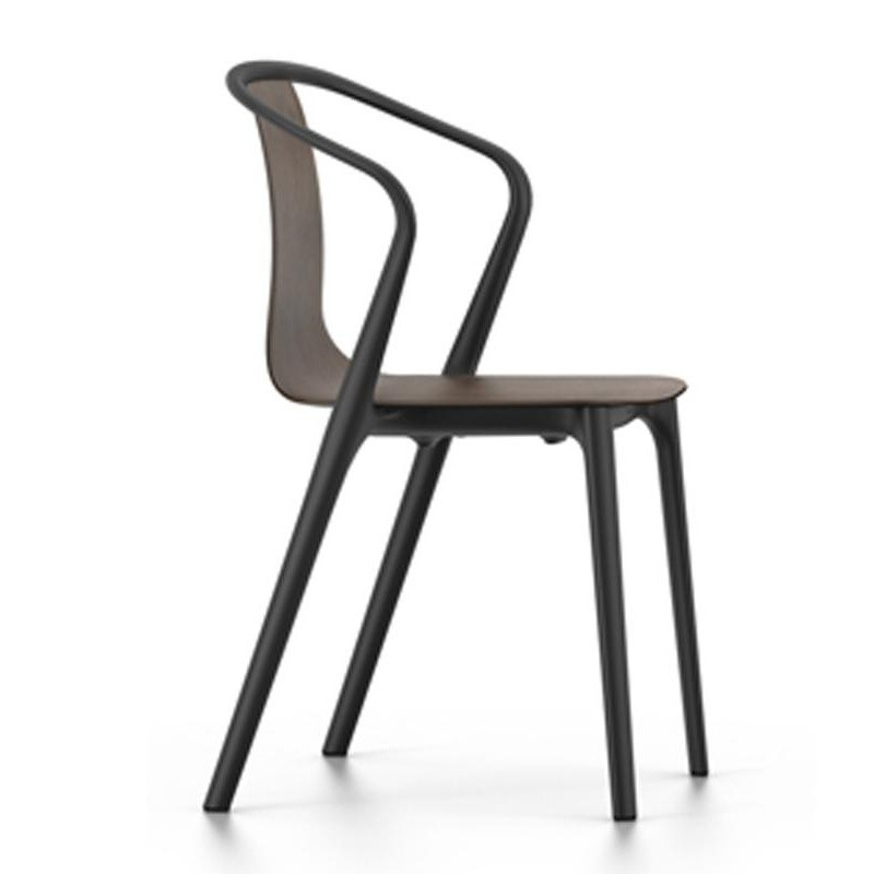 vitra belleville armchair wood ambientedirect