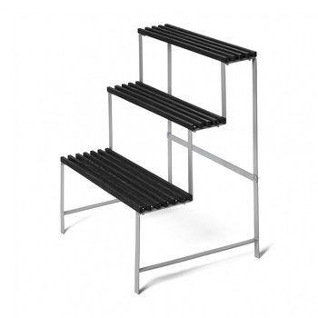 DesignHouseStockholm - DesignHouseStockholm Pflanzenständer - Esche dunkelgrau/lackiert/Gestell metallen/65x78x53cm