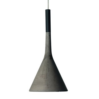 Foscarini - Aplomb GU10 Pendelleuchte - grau/H 36cm/ Ø 17cm