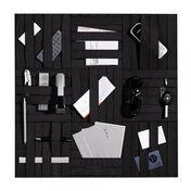 müller möbelwerkstätten - Expanderman Organisationsboard - schwarz/inkl. Wandbefestigung/Größe 1