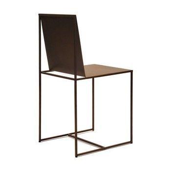 Zeus - Slim Sissi Stuhl - rostfarben/für Innen- und Außerbereich geeignet