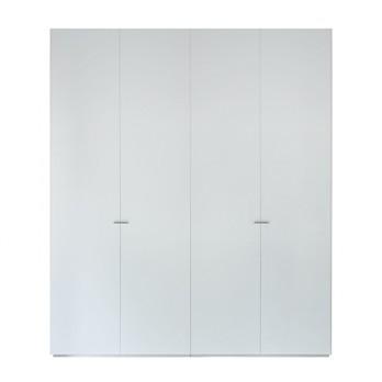 Piure - Nex Pur Schrank 200x231cm - weiß/MDF matt lackiert/2x Fachböden mit Kleiderstange/2x normale Fachböden/2x Innenschubkästen