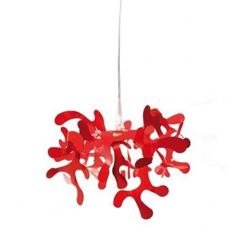 Lumen Center Italia - Mini Coral S Pendelleuchte - rot/Metall/Gehäuse lackiert