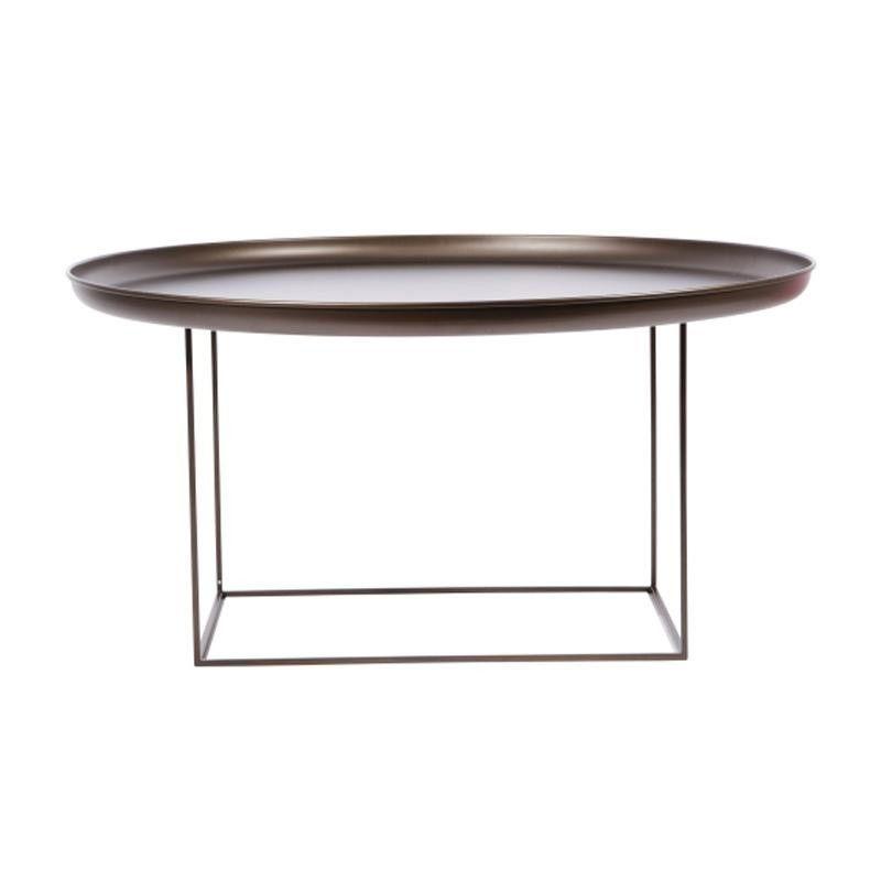 NORR 11   Duke Large Side Table Ø 90cm   Bronze/removable Table Top/