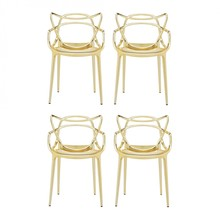 Kartell - Masters Metallic Armchair Set Of 4