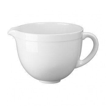 KitchenAid - Artisan 5KSMCB5 Keramikschüssel 4.7L - weiß/glänzend/für die Küchenmaschine/nur geeignet bei kippbarem Motorkopf