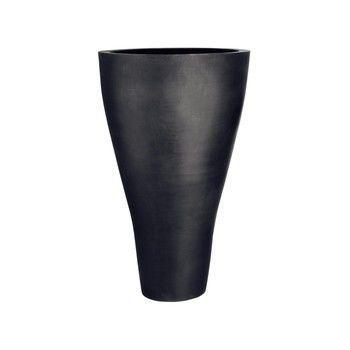 - amei Pflanzgefäß Der Konische XXL - schwarz/Ø59.5cm oben/Ø27cm unten/H100cmcm
