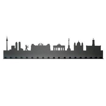 Radius - Städtegarderobe Berlin - dunkelgrau/Stahl pulverbeschichtet