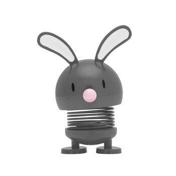 Hoptimist - Hoptimist Bunny Wackelfigur - dunkelgrau/glänzend/H 9cm/Ø 5cm/mit Federmechanismus