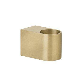 ferm LIVING - ferm LIVING Block Kerzenhalter - messing/matt poliert/BxH 4.5x3cm
