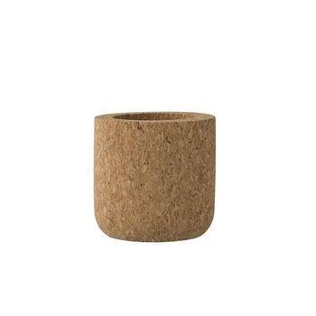 Bloomingville - Bloomingville Kork Behälter - natur/Ø6xH6 cm