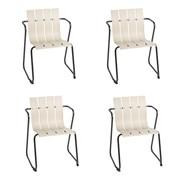 Mater - Set de 4 chaises avec accoudoirs Ocean