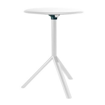 Plank - Miura Beistelltisch - grauweiß / Ø60cm/matt/Tischplatte klappbar